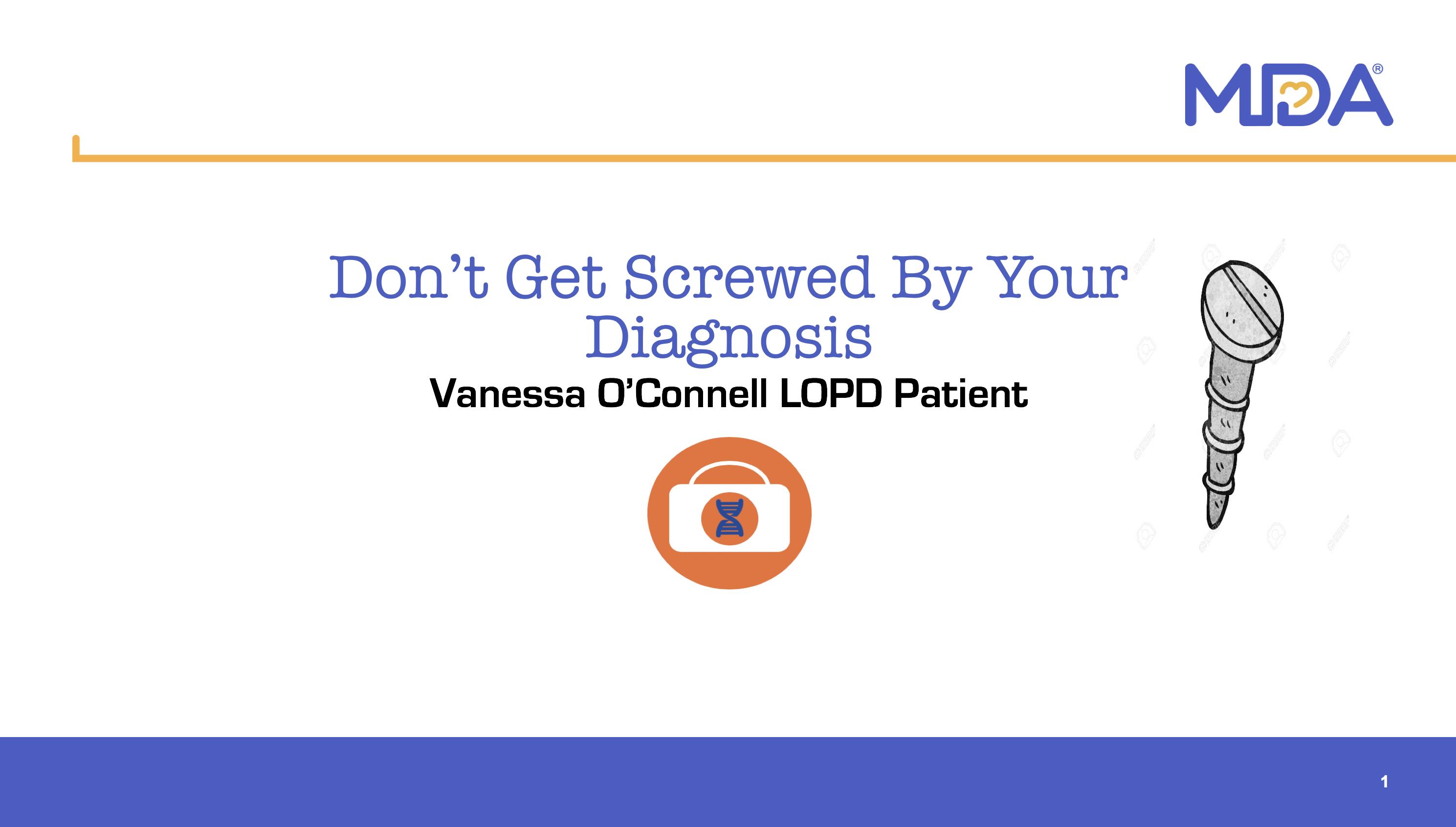 Vanessa O'Connell Presentation