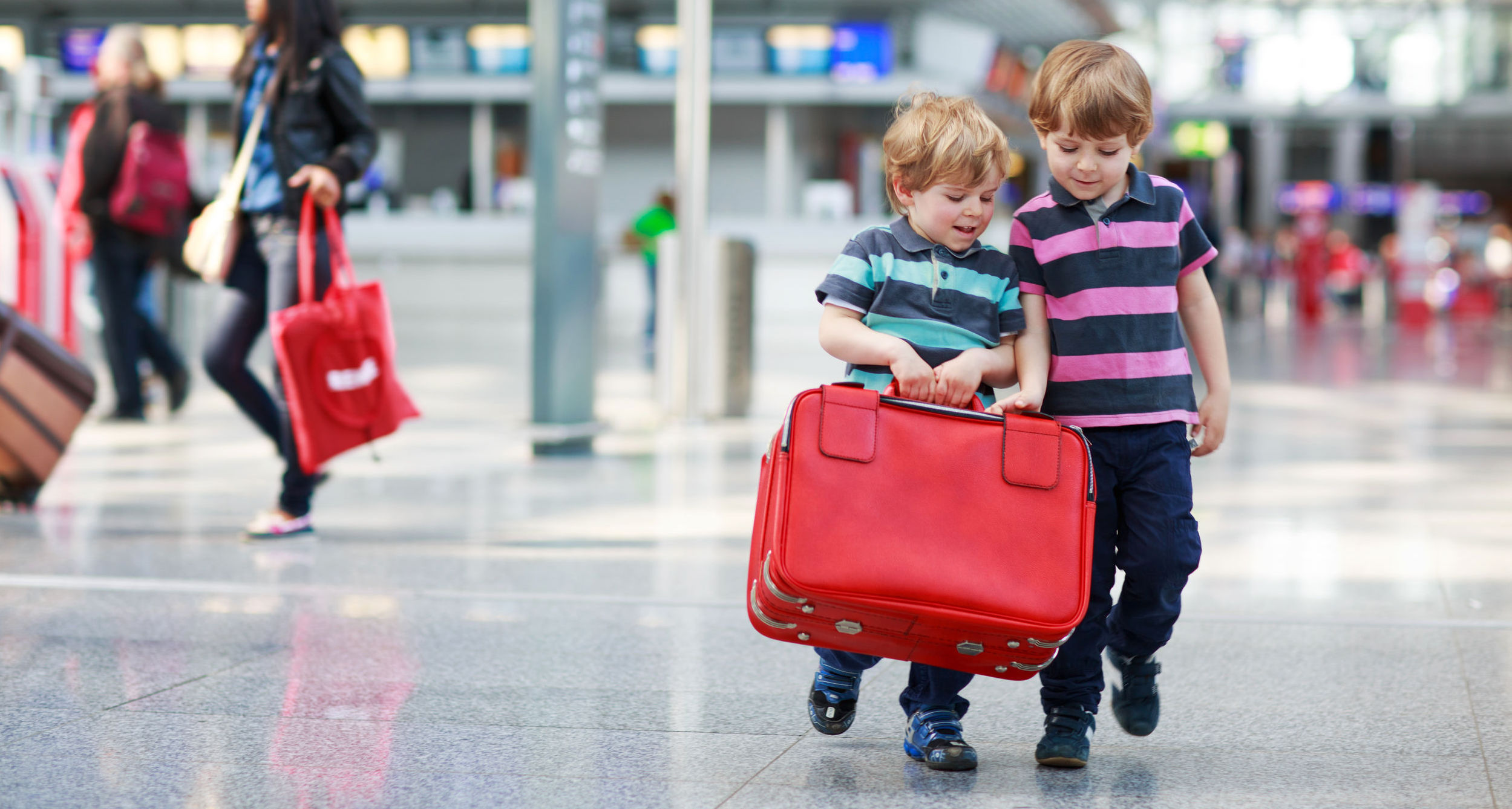 Brothers at Airport